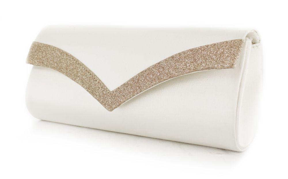 White Lady Brauttasche Tina ivory-champagner