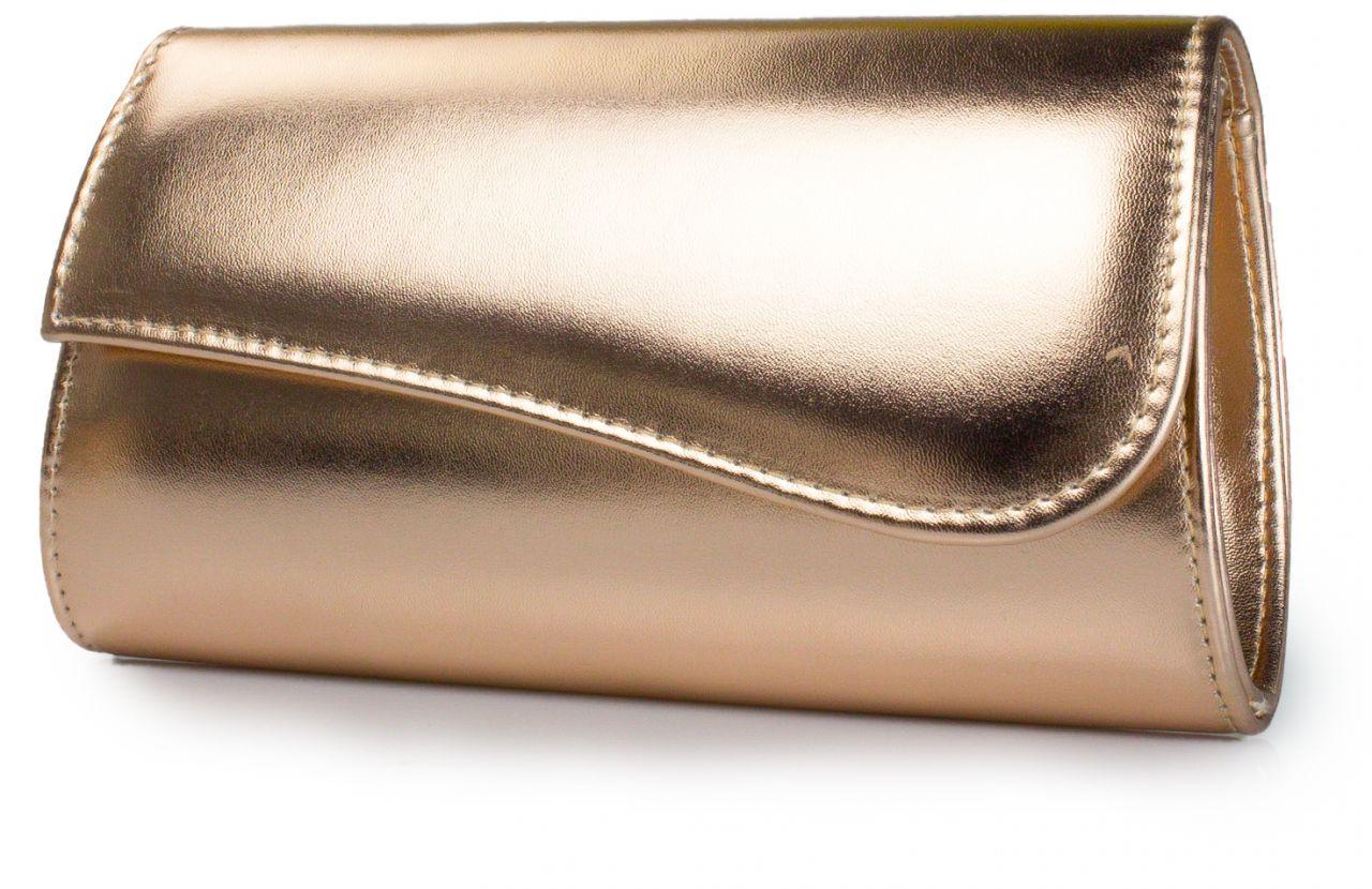 roségold metallic Clutch