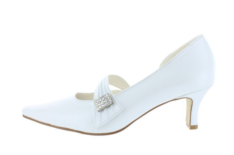 195 weiß Leder Brautschuhe