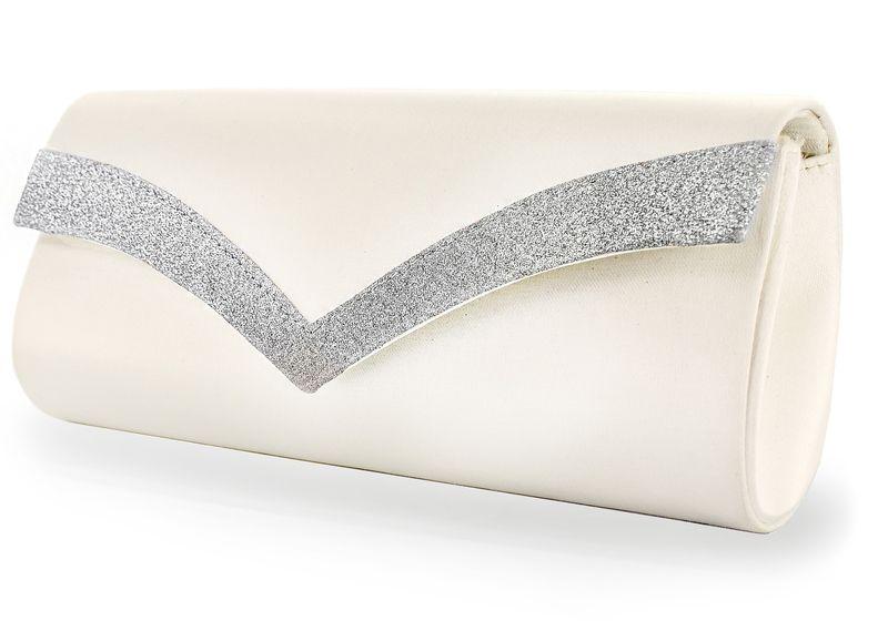 White Lady Brauttasche Tina ivory-silber