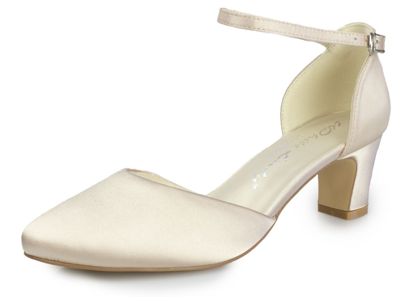 bequeme White Lady satinpumps in nude