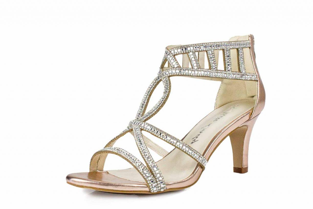 White Lady Sandaletten roségold metallic