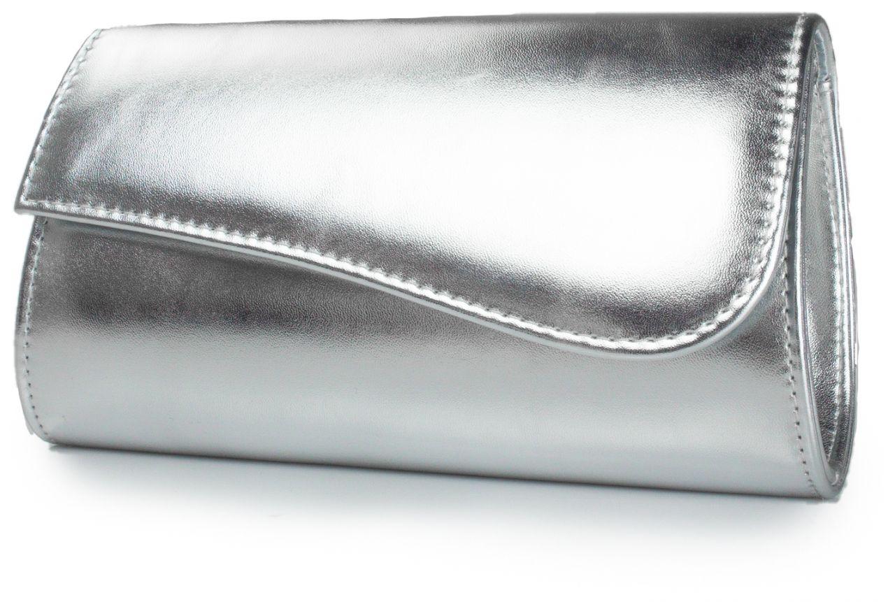 silber metallc White Lady Brautclutch