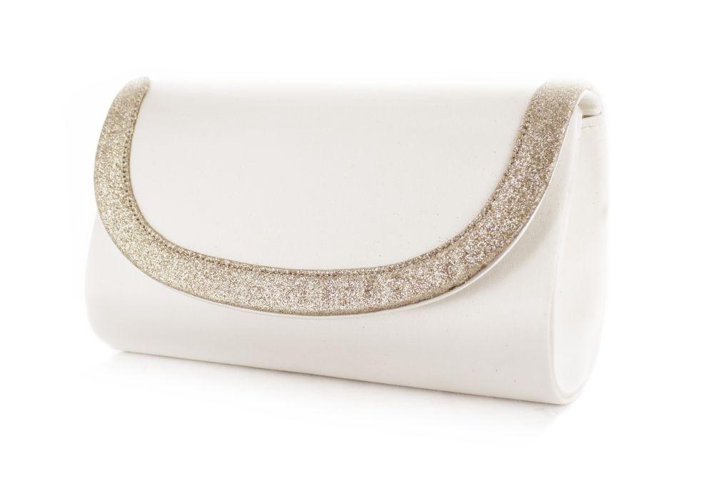 White Lady Brauttasche Marie ivory-champagner