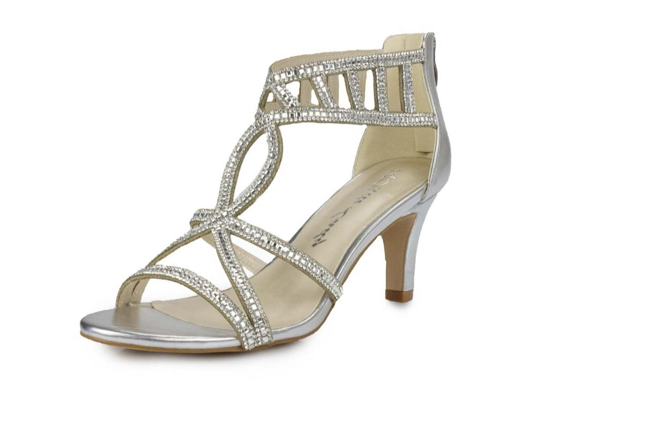 white lady sandalette silber metallic