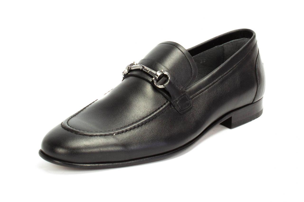 496 schwarz Loafer aus Nappaleder