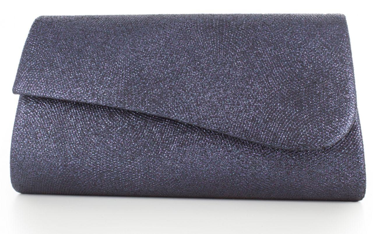 Juliane blau - Metallic Handtasche