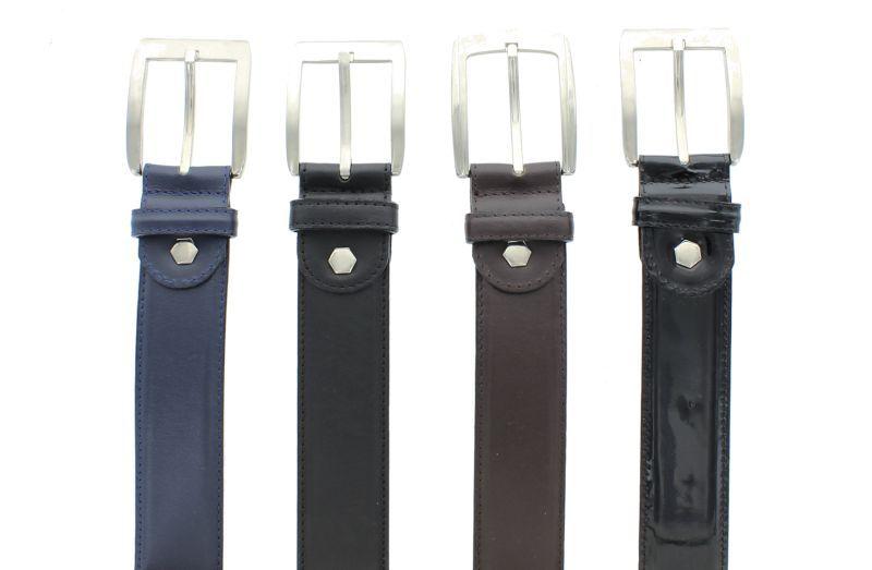 G10 blau-schwarz Brush - Dornschnalle Gürtel